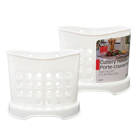 PLASTIC CUTLERY HOLDER - 6X3X4.75IN