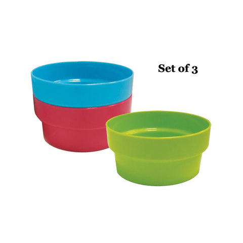 PLASTIC BOWL - SET OF 3