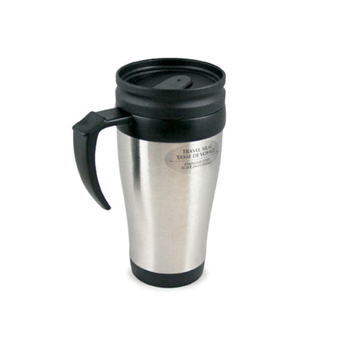 STAINLESS STEEL TRAVEL MUG WITH HANDLE - 400ML