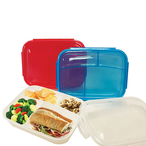 LUNCH BOX WITH 4 COMPARTMENTS