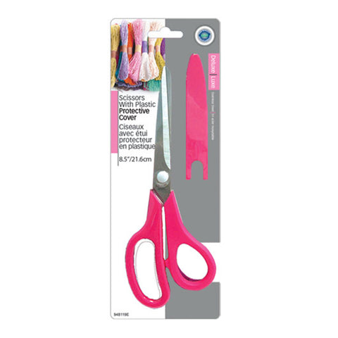 "SCISSORS 8.5"" WITH PLASTIC PROTECTIVE COVER"