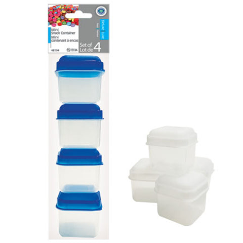 Mini Snack Container 4PK