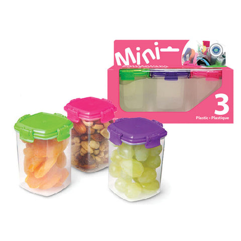 PLASTIC MINI CONTAINER - SET OF 3