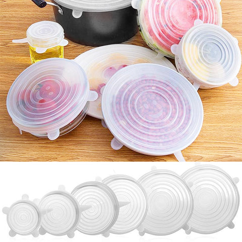 Silicone Pot Pan Covers/Lids 6PK