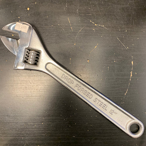 Drop Forged Steel Chrome Plated Adjustable Spanner 12""