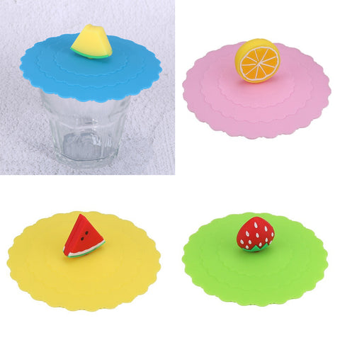 Silicone Cup Cover Fruits