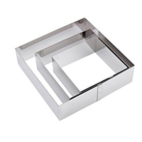 "Stainless Steel Series Square Ring 1 3/4"" Tall"