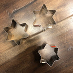 "Stainless Steel Series Cookie Cutters Star 1 1/4"" tall"
