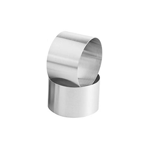 "Stainless Steel 2 1/2IN Round Baking Cake Ring 2"" Tall"
