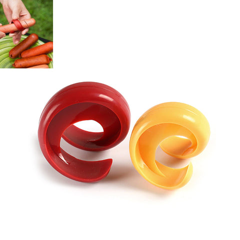 Spiral Barbecue Hot Dogs Cutter Slicer 2PK