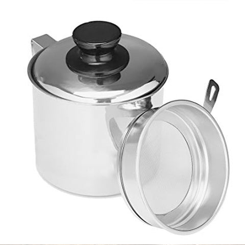 Stainless Steel Oil Pot With Strainer