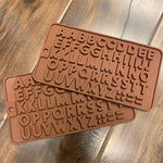 "Silicone Chocolate Mold Letters 4.5 x 8"" 1PK"