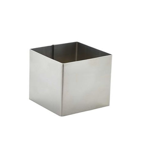 "Stainless Steel Deluxe 2 5/8IN Square Baking Ring 2"" Tall"