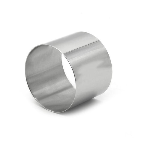 "Stainless Steel Deluxe 2 1/2IN Round Baking Ring 2"" Tall"
