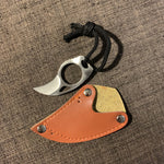 Mini portable claw knife / Karambit with leather Cover