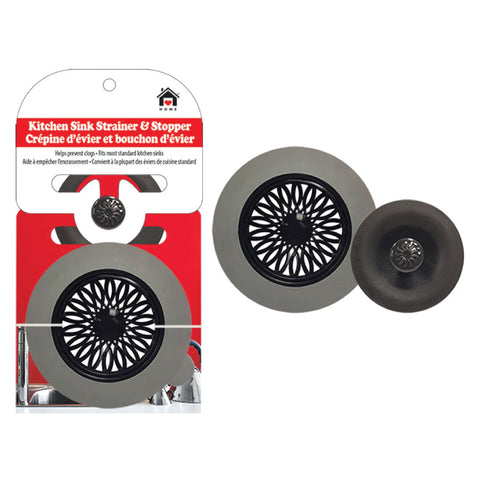 KITCHEN SINK STRAINER AND STOPPER SET 12 cm outer (6.5 cm inner)