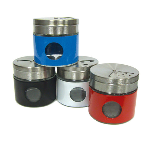 "SPICE JAR W/ROTATING LID 2.5"" TALL"