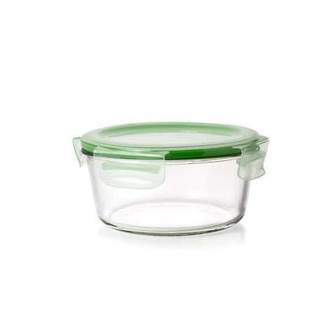 Round Glass Food Container 580ML