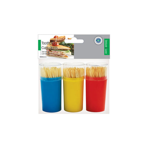 TOOTHPICK W/HOLDER SET OF 3