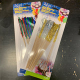 LONG DECORATIVE PARTY PICKS 20PK