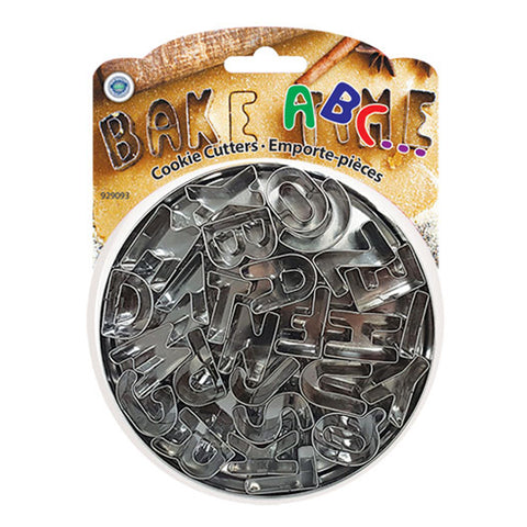 STAINLESS STEEL ALPHABET COOKIE CUTTERS SET OF 26