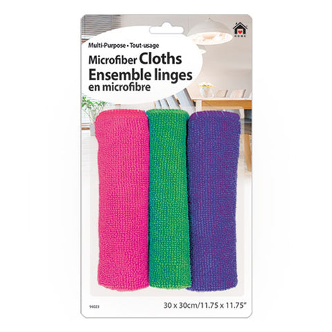 MICROFIBER CLEANING CLOTH - 3PCS - 11.75 X 11.75 IN