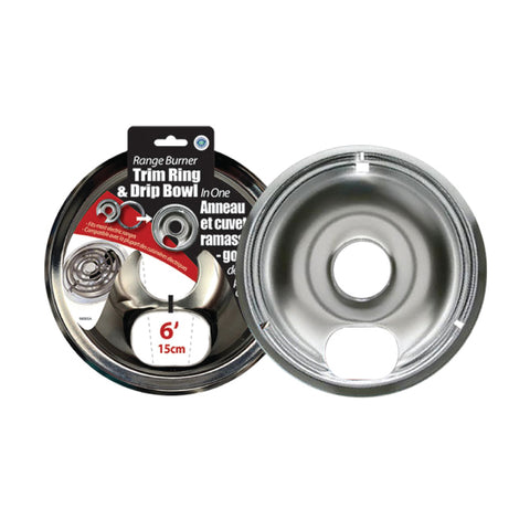 "6"" BURNER TRIM RING WITH DRIP BOWL"
