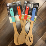 BAMBOO UTENSILS SET/ 2 Spoon & SLOTTED Spoon