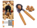 HEAVY DUTY NUT CRACKER WITH WOODEN HANDLE