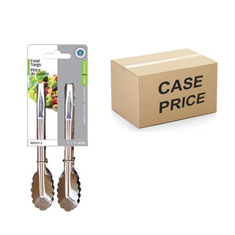 7IN FOOD TONGS (SET OF 2) - MASTER CASE- 144 PK