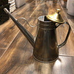 Stainless Steel Greek Olive Oil Cruet w/Brass Cover 24oz