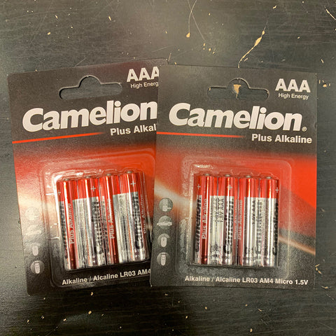 CAMELION 1.5V AAA PLUS ALKALINE BATTERY 4PK