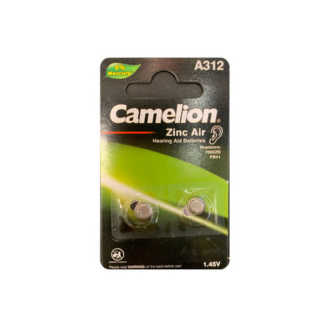 CAMELION A 312 Zine Air Hearing Aid Batteries 2 packs