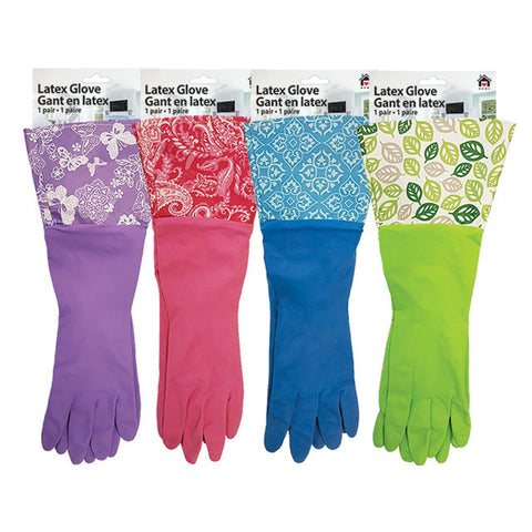 LONG CUFF LATEX GLOVES - MEDIUM