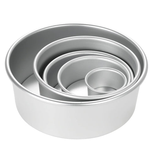 Aluminum Baking Cake Pan mold with Removable Bottom_Round