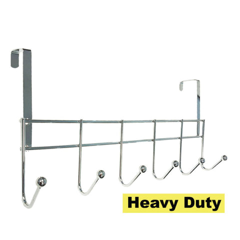 CHROME PLATED HEAVY DUTY OVER THE DOOR HOOK