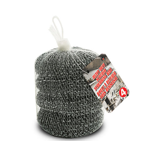 HEAVY DUTY SCOURER BALL - PACK OF 4