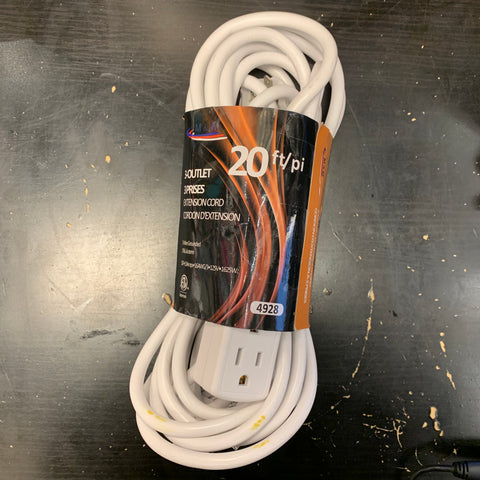 Outlet Extension Cord 20 FT Indoor