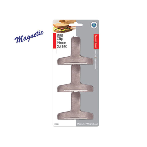 STAINLESS STEEL MAGNETIC CLIP - 3PK