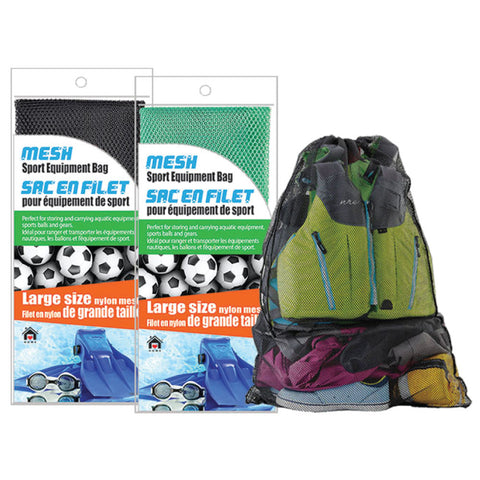 MESH DRAWSTRING SPORT EQUIPMENT BAG - LARGE 60x90CM