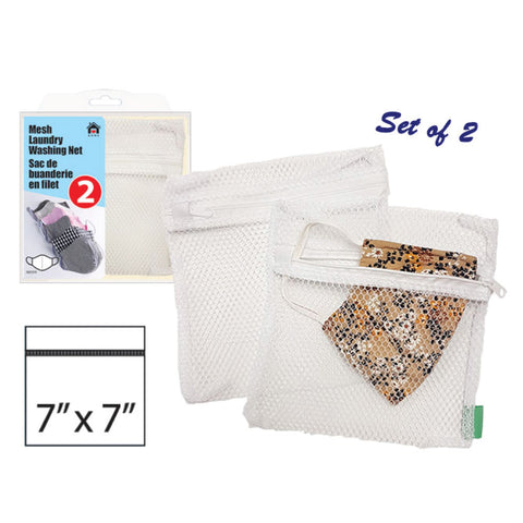 "MESH MASK WASHING NET BAG - 7x7"" ( 2 Packs)"