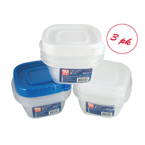 PACKIT PLASTIC AIR TIGHT FOOD CONTAINER (300ML)-3PK