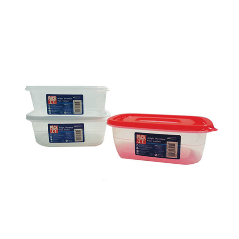 PACKIT PLASTIC AIR TIGHT FOOD CONTAINER (500ML)