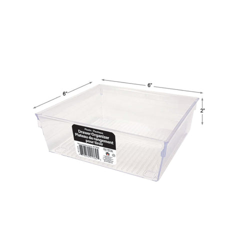 PLASTIC CLEAR PS DRAWER ORGANIZER - 6 X 6 X 2""