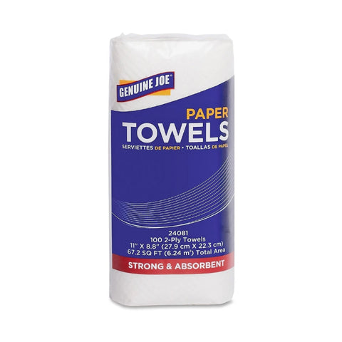 Genuine Joe 2-Ply Household Roll Paper Towel 100 Sheets