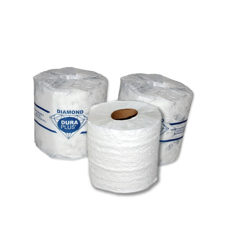Dura Plus White 2 Ply Diamond Quality Bathroom Tissue 420 Sheets
