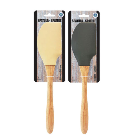 SILICON SPATULA WITH OAK WOOD HANDLE
