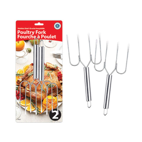STAINLESS STEEL TURKEY LIFTING FORK SET OF 2