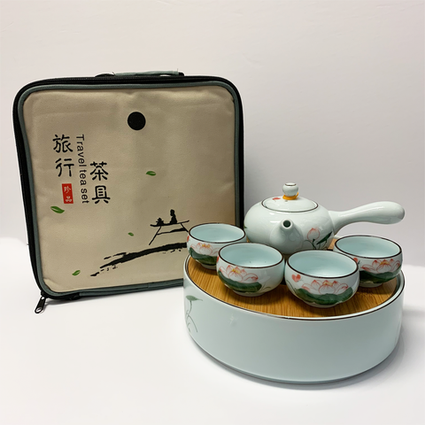 Travel Tea set with carrying case