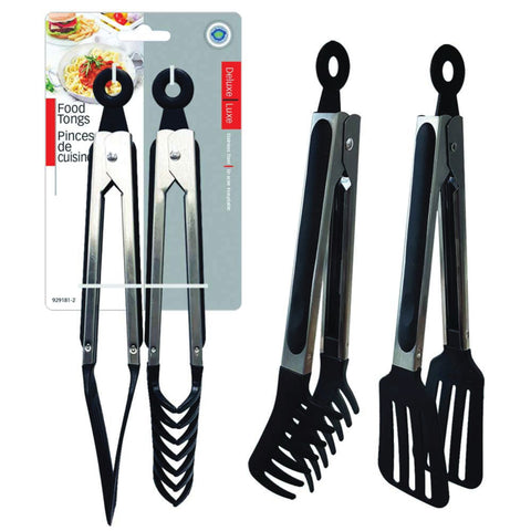 SPATULA TONGS AND SPAGHETTI TONGS SET OF 2